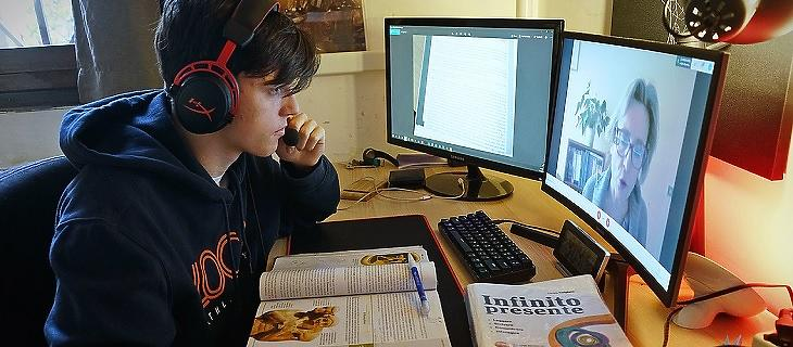 Távoktatás Milánóban (Forrás: blogs.worldbank.org)