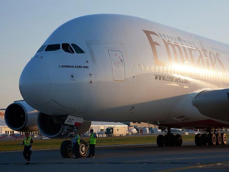 Az A380 superjumbo.