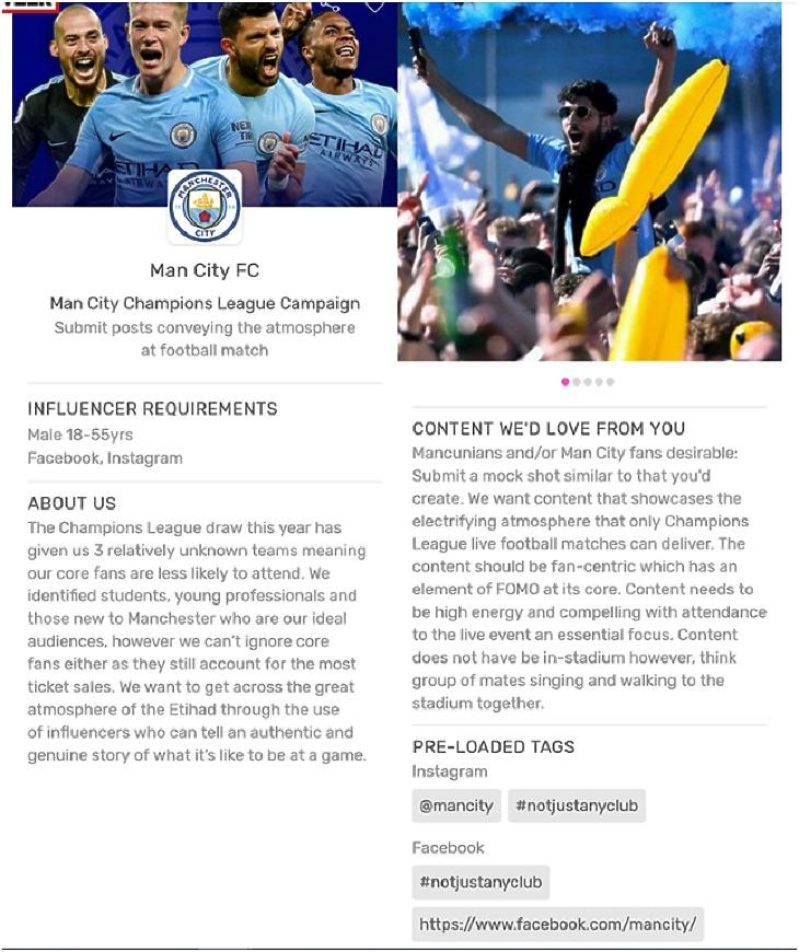 """A Manchester City influenszereket toboroz, mert """"a Bajnokok Ligájában három viszonylag ismeretlen ellenféllel fogunk játszani, ezért törzsszurkolóink kevésbé valószínű, hogy kijönnek a meccsre""""."""