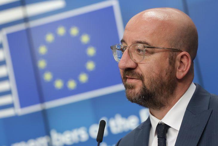 Charles Michel, az Európai Tanács elnöke sajtótájékoztatón Brüsszelben 2020. április 23-án. (Fotó: Európai Tanács)