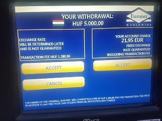 Durván lehúzza az embert az Euronet ATM-je