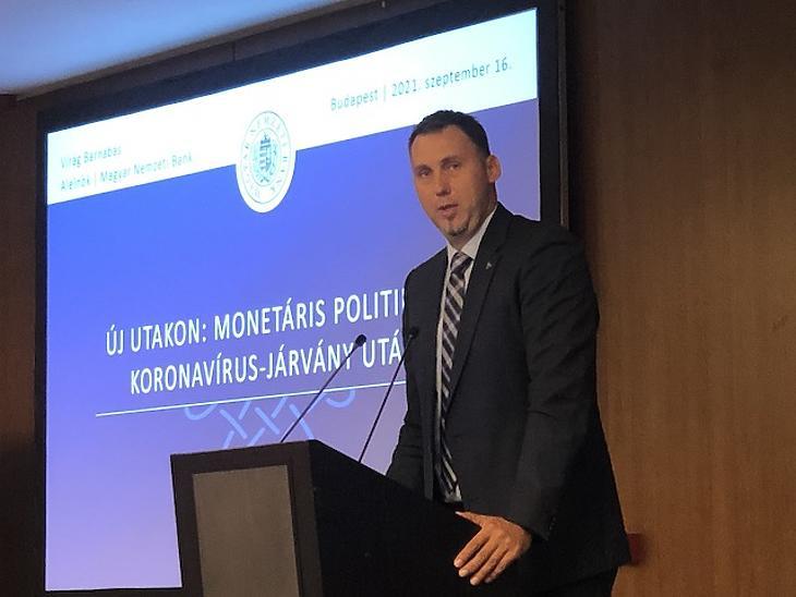 Virág Barnabás, az MNB alelnöke szerint számos tényező mutat arra, hogy az inflációval foglalkozni kell. Fotó: Mfor, Privátbankár