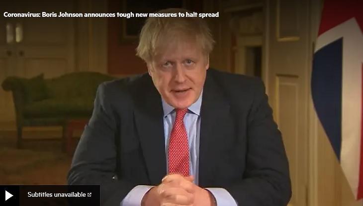 Boris Johnson egy korábbi bejelentés alkalmával (Fotó: ft.com)
