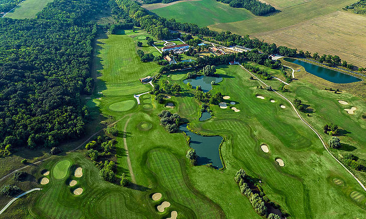 A klub területe madártávlatból. (Forrás: Pannónia Golf és Country Club)